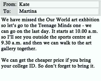 Email about Art Exhibition