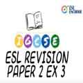 IGCSE ESL Exercise 3